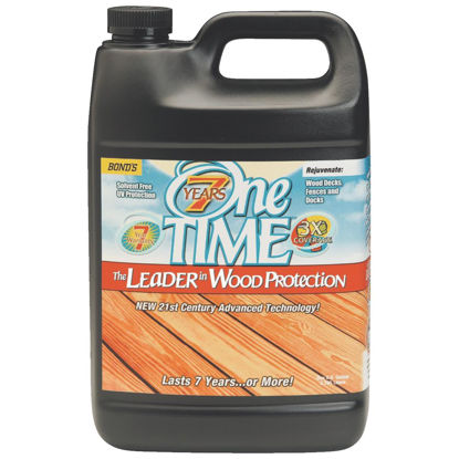 Picture of One TIME Clove Brown Wood Preservative Protector & Stain All In One, 1 Gal.