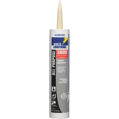 Picture of White Lightning All-Purpose 3006 10 Oz. Siliconized Acrylic Latex Caulk, Almond