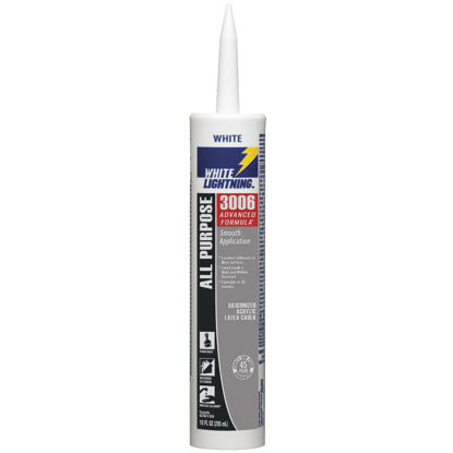 Picture of White Lightning 3006 Advanced All-Purpose 10 Oz. Siliconized Acrylic Latex Caulk, White