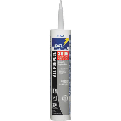 Picture of White Lightning All-Purpose 3006 10 Oz. Siliconized Acrylic Latex Caulk, Clear