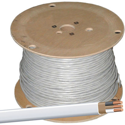 Picture of Romex 1000 Ft. 14-2 Solid White NMW/G Wire