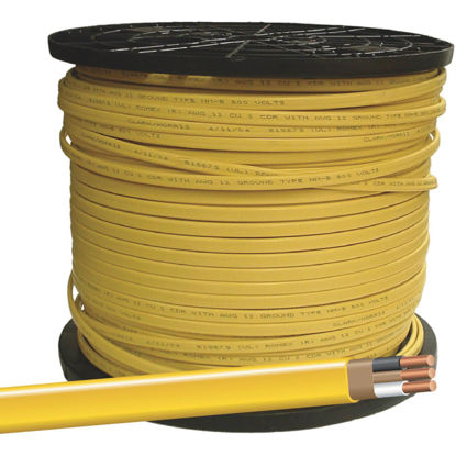 Picture of Romex 1000 Ft. 12-2 Solid Yellow NMW/G Wire
