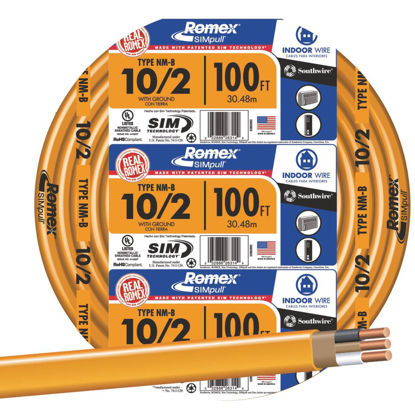 Picture of Romex 100 Ft. 10-2 Solid Orange NMW/G Wire
