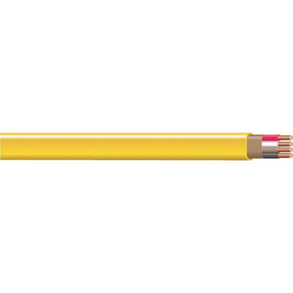 Picture of Romex 25 Ft. 12-3 Solid Yellow NMW/G Wire