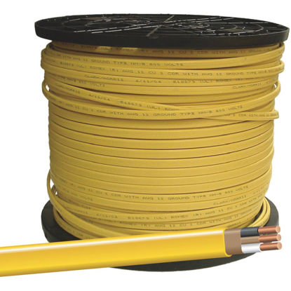 Picture of Romex 400 Ft. 12-2 Solid Yellow NMW/G Wire