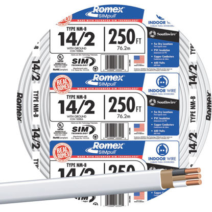 Picture of Romex 250 Ft. 14-2 Solid White NMW/G Wire