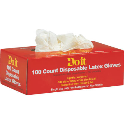 Picture of Do it 1 Size Fits All 1-Use Latex Disposable Glove (100-Pack)