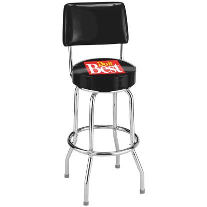 Picture of Do it Best 29-1/2 In. Black Bar Stool with Back Rest