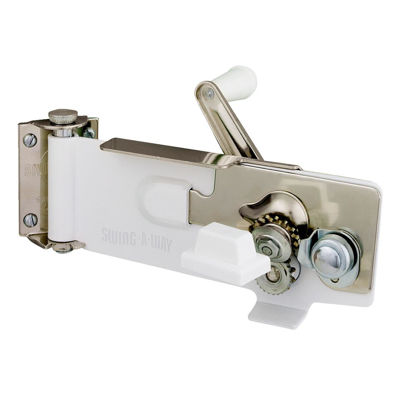 Picture of Swing-A-Way White Magnetic Wall Mount Can Opener