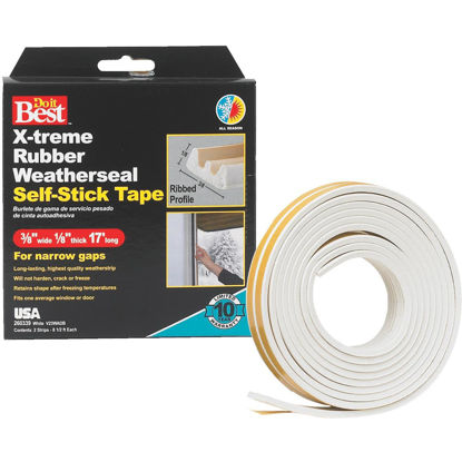 Picture of Do it Best 3/8 In. x 17 Ft. White Narrow Weatherseal Tape