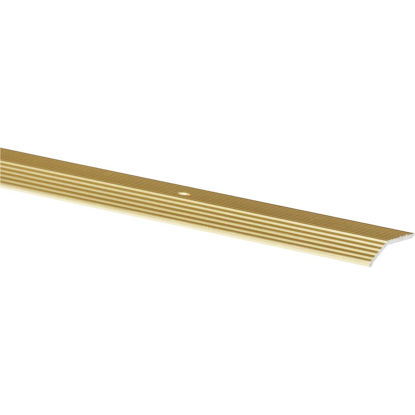 Picture of Do it Satin Gold Fluted 1-3/8 In. x 3 Ft. Aluminum Carpet Trim Bar, Wide
