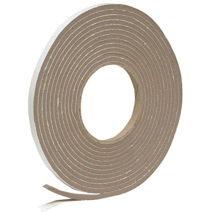 "Picture of Do it 3/8"" W x 3/16"" T x 17' L Brown Foam Weatherstrip Tape"