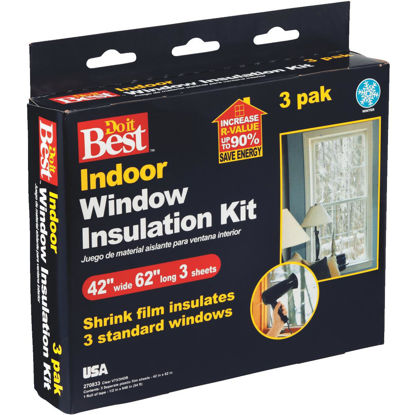 Picture of Do it Best 42 In. x 62 In. Indoor Shrink Film Window Kit, (3-Pack)