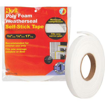 "Picture of Do it 3/4"" W x 1/4"" T x 17' L White Foam Weatherstrip Tape"