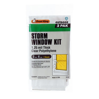 Picture of Frost King Outdoor 3 Ft. x 6 Ft. x 1. 25 Mil. Thick Storm Window Kit (2-Pack)