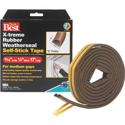 "Picture of Do it Best Brown 17' 5/16"" Rubber Weatherstrip"