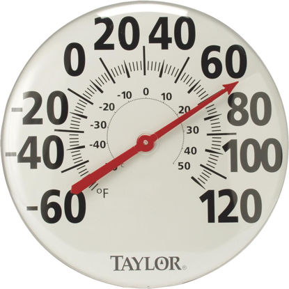 "Picture of Taylor 18"" Fahrenheit and Celsius -60 To 120 F, -50 To 50 C Outdoor Wall Thermometer"
