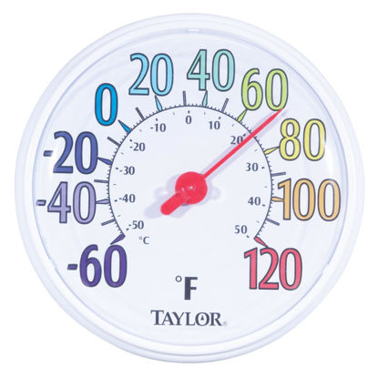 "Picture of Taylor 13-1/2"" Farenheit And Celsius -60 To 120 F, -50 To 50 C Outdoor Wall Thermometer"