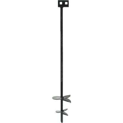Picture of Tie Down 4 In./6 In. x 36 In. Black Iron Double Head Earth Anchor