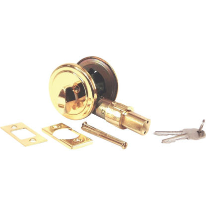 Picture of United States Hardware Brass Mobile Home Deadbolt