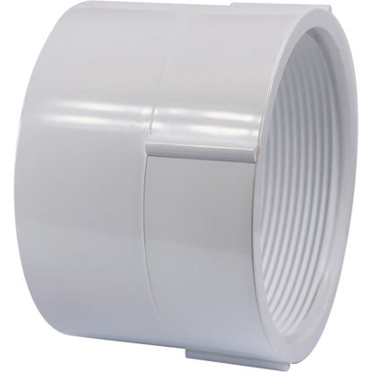 Picture of Genova 1-1/2 In. Hub x 1-1/4 In. FPT Schedule 40 DWV PVC Adapter