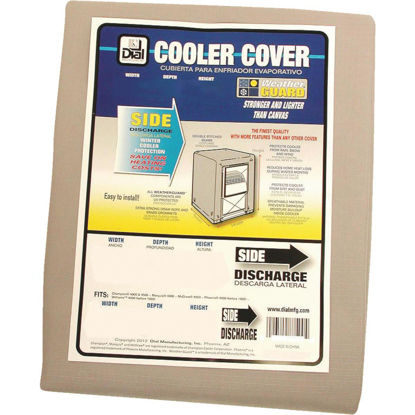 Picture of Dial 34 In. W x 34 In. D x 40 In. H Polyester Evaporative Cooler Cover, Side Discharge