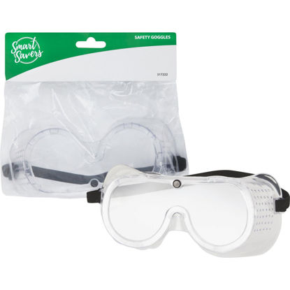 Picture of Smart Savers Clear Frame Safety Goggles with Anti-Fog Clear Lenses