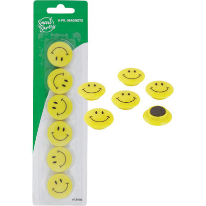 Picture of Smart Savers 1.18 In. Dia. Yellow Magnets (6-Pack)