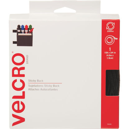 Picture of VELCRO Brand 3/4 In. x 15 Ft. Black Sticky Back Reclosable Hook & Loop Roll