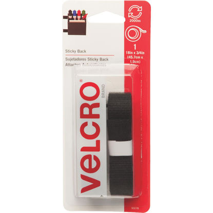Picture of VELCRO Brand 3/4 In. x 18 In. Black Sticky Back Reclosable Hook & Loop Roll