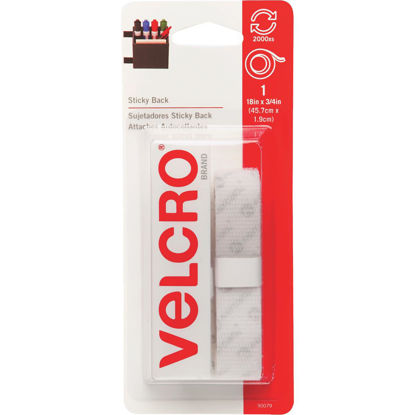 Picture of VELCRO Brand 3/4 In. x 18 In. White Sticky Back Reclosable Hook & Loop Roll
