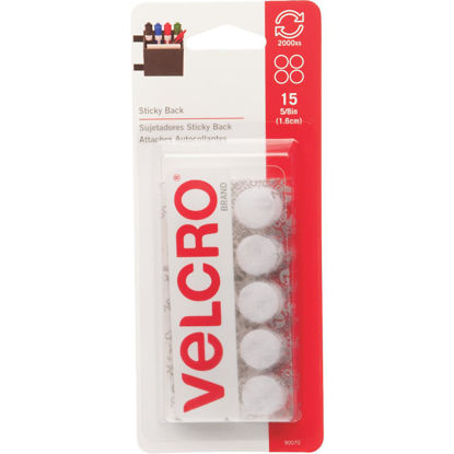 Picture of VELCRO Brand 5/8 In. White Hook & Loop Discs (15 Ct.)
