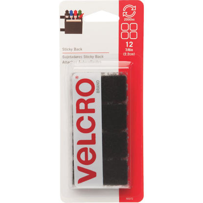 Picture of VELCRO Brand 7/8 In. Black Hook & Loop Square (12 Ct.)