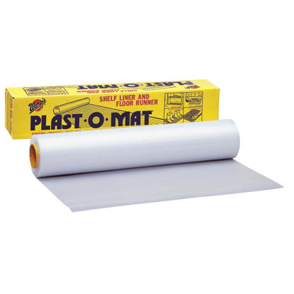 Picture of Plast-O-Mat 30 In. W x 50 Ft. L White Ribbed Floor Runner/Carpet Protector