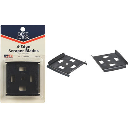 Picture of Best Look 2-1/2 In. 4-Edge Replacement Scraper Blade (2-Pack)