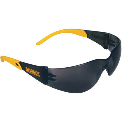 Picture of DeWalt Protector Black/Yellow Frame Safety Glasses with Smoke Lenses