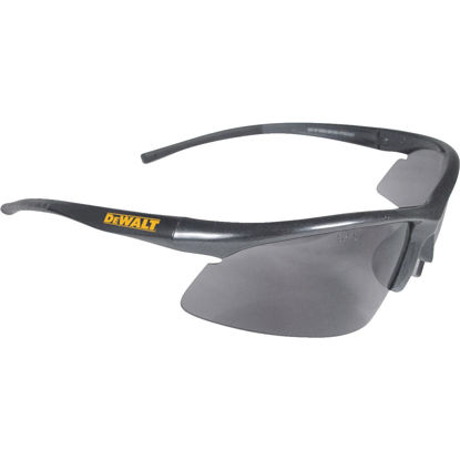 Picture of DeWalt Radius Black/Yellow Frame Safety Glasses with Smoke Lenses