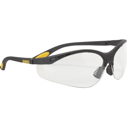 Picture of DeWalt Reinforcer Black/Yellow Frame Safety Glasses with Clear Lenses