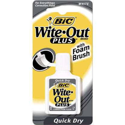 Picture of Bic Wite-Out Plus 0.7 Fl. Oz. Foam Brush Applicator Correction Fluid