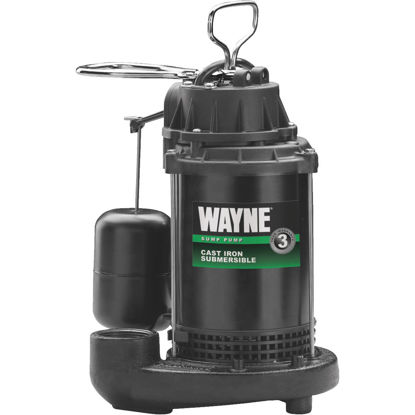 Picture of Wayne Water System 1/2 HP 115V Cast-Iron Submersible Sump Pump