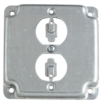 Picture of Steel City Duplex Receptacle 4 In. x 4 In. Square Device Cover