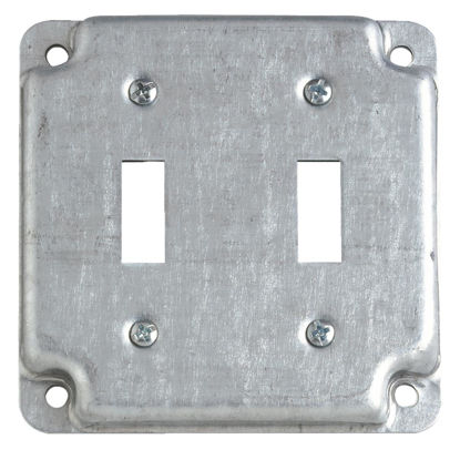 Picture of Steel City 2-Toggle Switch 4 In. x 4 In. Square Device Cover