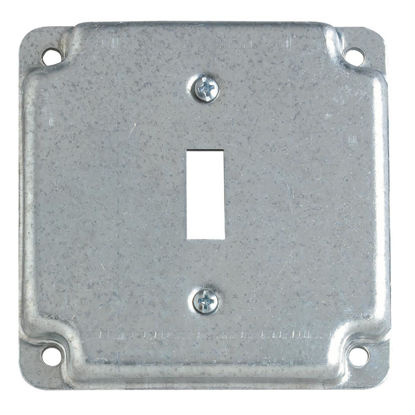 Picture of Steel City 1-Toggle Switch 4 In. x 4 In. Square Device Cover