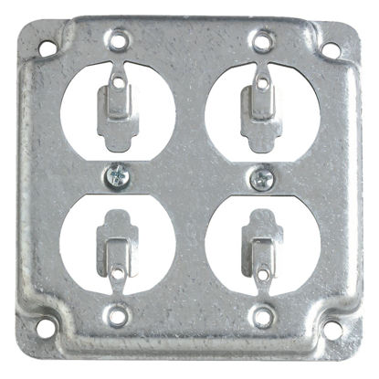 Picture of Steel City 2-Duplex Receptacles 4 In. x 4 In. Square Device Cover