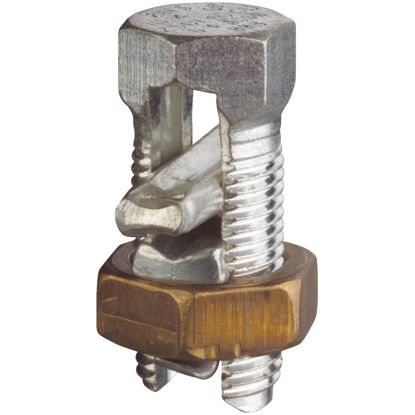 Picture of Blackburn 4/0 Str. to 4 Sol. Tin Plated Copper Alloy  Split Bolt Connector