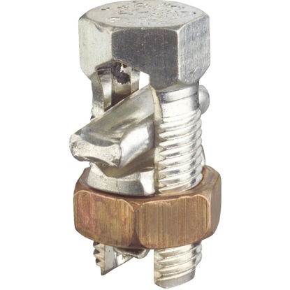Picture of Blackburn 1/0 Str. to 6 Sol. Tin Plated Copper Alloy Split Bolt Connector