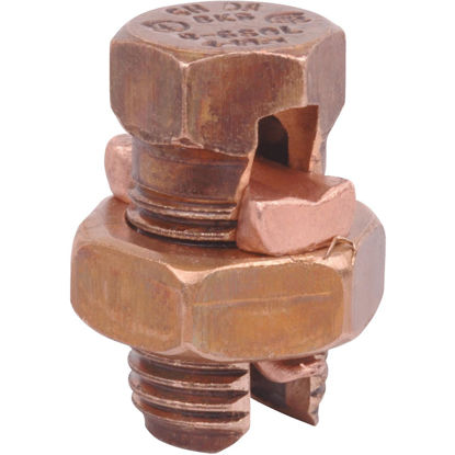 Picture of Blackburn 6 Sol. to 12 Sol. Tin Plated Copper Alloy Split Bolt Connector