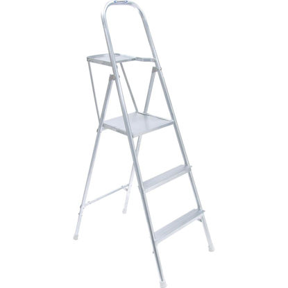 Picture of Werner 9 Ft. Reach Tubular Aluminum Platform Ladder with 200 Lb. Load Capacity Type III Ladder Rating