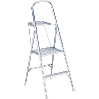 Picture of Werner 8 Ft. Reach Tubular Aluminum Platform Ladder with 200 Lb. Load Capacity Type III Ladder Rating