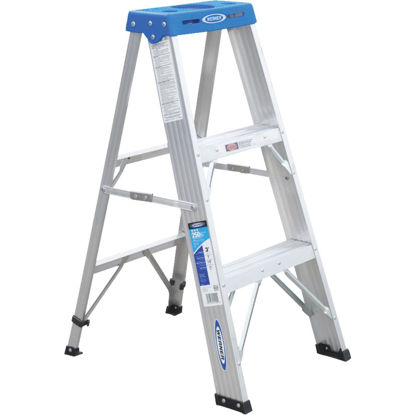 Picture of Werner 3 Ft. Aluminum Step Ladder with 250 Lb. Load Capacity Type I Ladder Rating